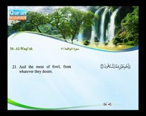 Recited Quran with Translating Its Meanings into English (Audio and video – Part 27 - Episode 6)