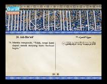 المصحف المرتل مع ترجمة معانيه إلى اللغة الإندونيسية ( الجزء 19 ) المقطع 4