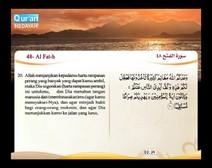 Mushaf murattal dengan terjemahan maknanya ke dalam bahasa Indonesia (Juz 26) Bagian 5