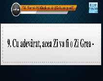 Traducerea sensurilor Surei Al-Muddathir în limba română, însoţită de recitarea lui Saleh Aal Talib