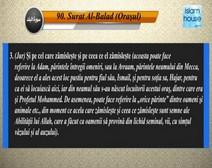 Traducerea sensurilor Surei Al-Balad în limba română, însoţită de recitarea lui Mishari