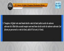 Traducerea sensurilor Surei Al-Qadr în limba română, însoţită de recitarea lui Khalid al-Qahtani