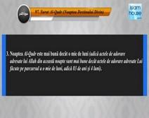 Traducerea sensurilor Surei Al-Qadr în limba română, însoţită de recitarea lui Mishari