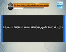 Traducerea sensurilor Surei Al-Qari'a în limba română, însoţită de recitarea lui Mishari