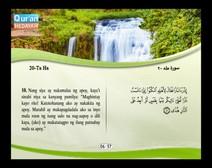 المصحف المرتل مع ترجمة معانيه إلى اللغة الفلبينية التجالوج ( الجزء 16 ) المقطع 5